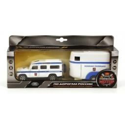 фото Машина инерционная Пламенный Мотор Land Rover «Конная полиция»