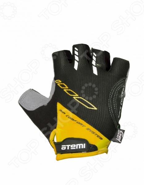 Перчатки велосипедные вентилируемые Atemi AGC-04. Цвет: желтый