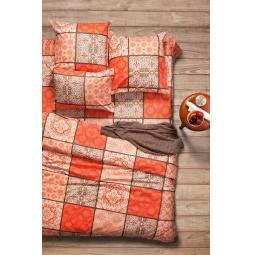 фото Комплект постельного белья Сова и Жаворонок Premium «Шафран». 2-спальный