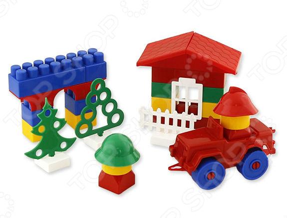 Конструктор Кроха Classik, 101 детальДругие виды конструкторов<br>Конструктор Кроха Classik - это конструктор, который включает в себя наличие блоков трёх разных размеров. Блоки соединяются между собой лёгким нажатием сверху первого блока на второй. Но для того чтобы соединить или же разъединить детали нужно приложить достаточно большую силу, поэтому дети никак не могут обойтись без помощи взрослых. В наборе есть детали для дверей, окон, крыши, деревьев и заборов. Конструкторы подобного рода отлично развивают мелкую моторику рук ребенка. Конструктор Кроха Classik содержит 10 деталь.<br>
