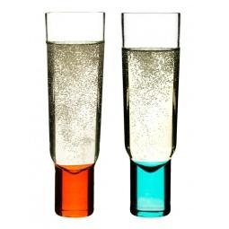 фото Набор бокалов для шампанского Sagaform Club. Цвет: голубой, красный