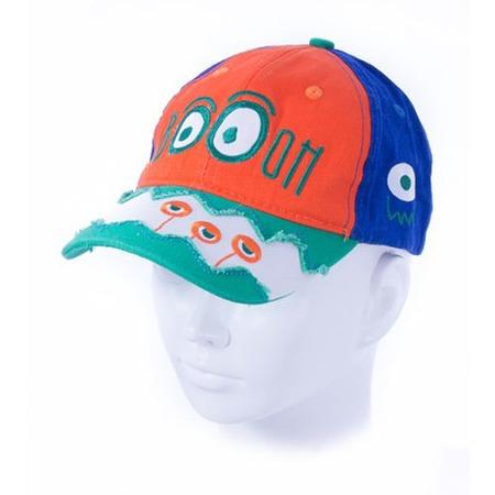 Купить Бейсболка для мальчика ЧУДО-КРОХА Boom ЯВ119673. Цвет: синий, оранжевый