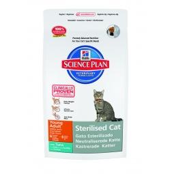 фото Корм сухой для стерилизованных кошек Hill's Science Plan Sterilised Young Adult с тунцом. Вес упаковки: 8 кг