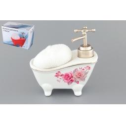 Купить Диспенсер с губкой Elan Gallery «Ванна с цветами»