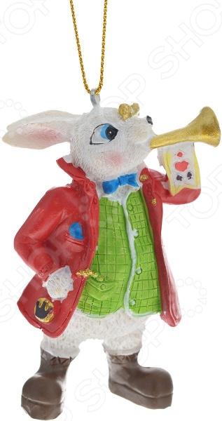 Игрушка ёлочная Игрушка елочная Феникс-Презент 38263 «Кролик с трубой»