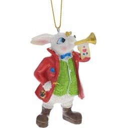 фото Игрушка елочная Феникс-Презент 38263 «Кролик с трубой»