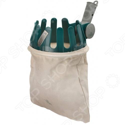 Плодосборник Raco 42350-53/368CУстройства для сбора урожая<br>Плодосборник Raco 42350-53 368C - мешок для сбора плодов, с поворотным механизмом и креплением под черенок диаметром 24 мм. Предназначен для сбора плодов, которые растут высоко. Корпус выполнен из ASB-пластика, который предотвращает появление коррозии и увеличивает срок службы инструмента. Хлопковая мешок-сумка имеет хорошую прочность, которая вмещает большое количество собранных плодов. Плодосборник значительно облегчит процесс сбора фруктов с садов и ускорит процесс, не позволяя фруктам портиться на деревьях даже на самых высоких ветвях. Имеет крепление под черенок диаметром 24 мм, отверстия диаметром 5 мм под шурупы Диаметр отверстий для крепления черенка - 5 мм под шурупы.<br>