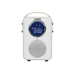 фото Радиобудильник Hyundai H-1624. Цвет: белый. Вид: белая кожа