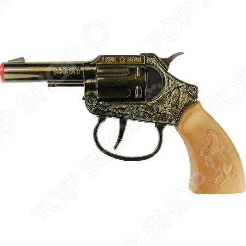 Пистолет Sohni-Wicke СкаутПистолеты<br>Пистолет Sohni-Wicke Скаут станет отличным подарком для юных любителей вестернов и фильмов про крутых ковбоев. Меткий и надежный пистолет на 100 зарядов станет верным помощником юного героя с Дикого Запада. Этот игрушечный пистолет идеально подходит для активных детских игр. Пистоны необходимо приобретать отдельно. Внимательно ознакомьтесь с инструкцией и соблюдайте меры предосторожности.<br>