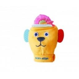 фото Игрушка-рукавичка с прорезывателями Roxy-Kids «Вуффи». Цвет: розовый