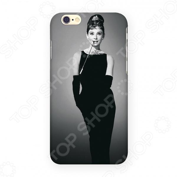 Чехол для iPhone 6 Mitya Veselkov «Одри в черном платье» чехол для iphone 7 plus звездочки на черном ip7plus mitya 022 mitya veselkov
