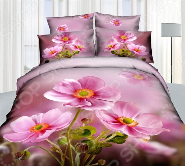 Комплект постельного белья Mango «Цветы» 605. 2-спальный2-спальные<br>Треть своей жизни мы проводим во сне и непозволительно доверить этот процесс обычному пледу или одеялу. Внешний вид, самочувствие и настроение человека напрямую зависит от хорошего сна, на который влияют многие факторы, в том числе качество постельного белья. К его выбору следует подойти со всей серьезностью, так как это одна из тех самых важных мелочей, от которой зависит здоровый отдых. Огромный ассортимент постельного белья Mango приятно удивит вас новыми моделями и красками. Гармония в доме начинается со спальни Комплект постельного белья Mango Цветы правильное решение оформления для вашей спальни! Белье создаст атмосферу домашнего уюта и покоя. Нежные прикосновения мягкого материала сделают сон и момент пробуждения приятными. Грамотное сочетание узора и насыщенных красок впишутся в любой интерьер. Этом комплект подчеркнет дизайн вашей спальни и будет выгодно смотреться в любой цветовой гамме. Mango лучший выбор для спальни Данная модель комплекта белья является частью великолепной серии 3D. Один из лучших материалов, который был выбран для создания постельного белья Mango натуральный сатин. Это 100 хлопок, чья мягкость и шелковистость сравнима с натуральным шелком. Прикасаться к нему приятно, а спать на таком комплекте сплошное удовольствие.  Сатиновое постельное белье Mango обладает рядом достоинств:  особо прочное переплетение волокон;  невероятная легкость изделия;  натуральный состав ткани безопасен для аллергиков и детей;  высокие гигроскопические свойства;  позволяет воздуху свободно циркулировать;  ткань быстро сохнет;  не мнется и не деформируется при использовании;  не электризуется. Уникальная технология 3D рисунка Особое внимание заслуживает рисунок, который нанесен на каждую деталь комплекта. Он не только невероятно качественный и оригинальный, но и очень практичный. Сатиновую ткань с изображением 3D Mango можно смело назвать инновацией в мире текстильной моды:  используются специ