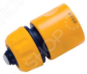 Коннектор с автостопом Brigadier 84905Коннекторы и штуцеры для соединения шлангов<br>Коннектор с автостопом Brigadier 84905 станет прекрасным дополнением к набору ваших аксессуаров для полива и позволит быстро провести замену насадок на шлангах с диаметром 13 мм. Коннектор выполнен из высококачественного ударостойкого пластика и оборудован системой автостоп .<br>