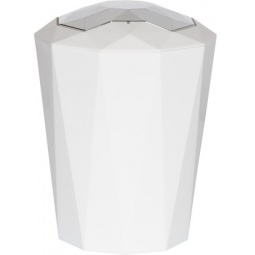 фото Ведро для мусора Spirella Crystal. Цвет: белый