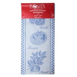 фото Полотенце BONITA «Помидор, базилик, чеснок». Цвет: голубой
