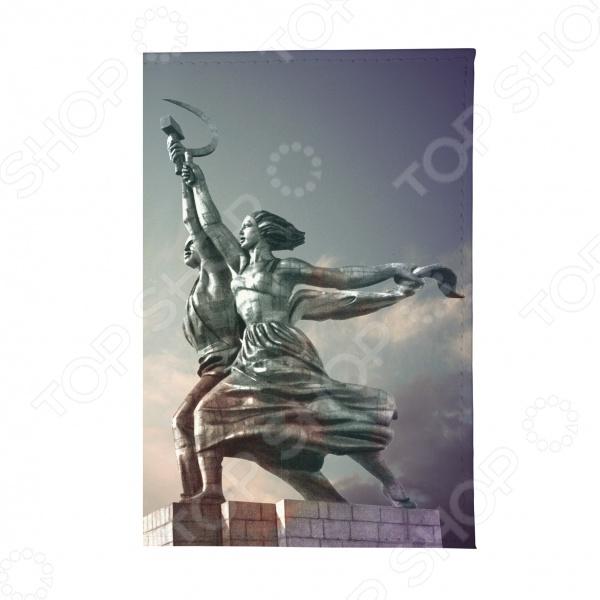Обложка для автодокументов Mitya Veselkov «Рабочий и колхозница»