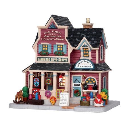Купить Домик керамический Lemax «Галерея ремесел и магазин: Старый город»