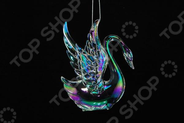 Елочное украшение со светодиодами Елочное украшение Crystal Deco «Лебедь» 1707712
