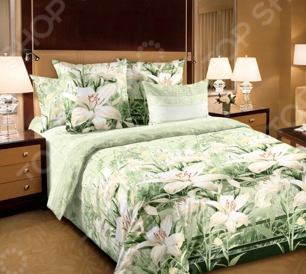 Комплект постельного белья Белиссимо «Луиза». 2-спальный2-спальные<br>Комплект постельного белья Белиссимо Луиза это незаменимый элемент вашей спальни. Человек треть своей жизни проводит в постели, и от ощущений, которые вы испытываете при прикосновении к простыням или наволочкам, многое зависит. Чтобы сон всегда был комфортным, а пробуждение приятным, мы предлагаем вам этот комплект постельного белья. Приятный цвет и высокое качество комплекта гарантирует, что атмосфера вашей спальни наполнится теплотой и уютом, а вы испытаете множество сладких мгновений спокойного сна. Комплект сшит из бязи. У такой ткани есть ряд преимуществ:  плотная ткань гарантирует длительный срок службы;  приятна на ощупь;  не деформируется и не теряет цвет даже после многочисленных стирок;  белье гигиенично, не вызывает аллергических реакций.<br>