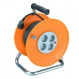 Купить Удлинитель силовой на катушке из пластика Эра RP-4-3x1.0-50m