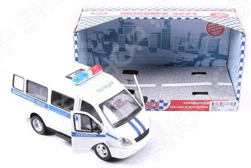 Машинка инерционная PlaySmart «Автопарк. Газель 3221 милиция»