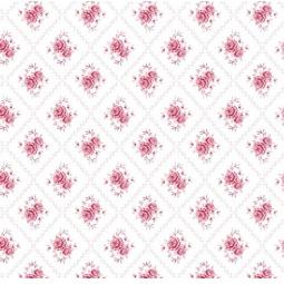 фото Отрез ткани Tilda Розы у дома. Цвет: белый