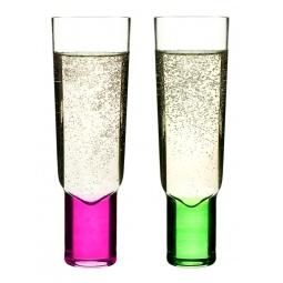 фото Набор бокалов для шампанского Sagaform Club. Цвет: зеленый, розовый