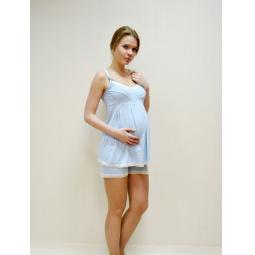 Купить Пижама для беременных Nuova Vita 901.2. Цвет: голубой