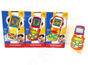 Телефон развивающий музыкальный Huile Toys раскладушка. В ассортиментеИгрушечные телефоны<br>Товар продается в ассортименте. Цвет изделия при комплектации заказа зависит от наличия товарного ассортимента на складе. Телефон развивающий музыкальный Huile Toys раскладушка предназначен для таких маленьких, но уже таких любознательных малышей. Благодаря небольшому размеру, игрушка прекрасно помещается в детских руках. Телефончик раскладывается, приветствуя юного владельца словом Hello! , что в переводе с английского языка означает Привет! . Кроме того, при каждом новом открытии на экране поочередно меняются картинки с изображениями животных котенок, собачка, мышка . Нажатия на клавиши с цифрами сопровождаются звуком набора номера, а при нажатии на большую кнопку звучат мелодии. При закрытии, телефон прощается и говорит Good buy! До свидания! . Телефон развивающий музыкальный Huile Toys раскладушка изготовлен из высококачественных материалов, которые абсолютно безвредны и не содержат токсических веществ. Разнообразные формы и цвета способствуют развитию зрительной координации и мелкой моторики рук ребенка, а издаваемые игрушкой звуки тренируют его слух. Для работы требуются 2 батарейки ААА-типа включены в комплект поставки .<br>