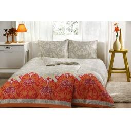 фото Комплект постельного белья TAC Sasha. Семейный. Цвет: оранжевый