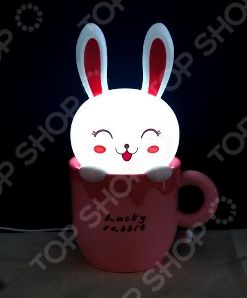 Лампа-ночник настольная 31 век «Счастливый кролик»