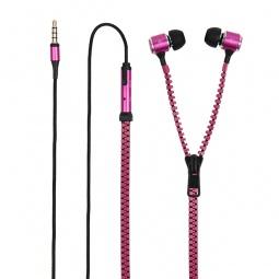 фото Гарнитура универсальная Muvit MuZip кабель-молния. Цвет: розовый