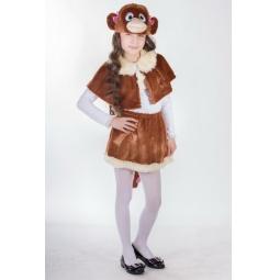 Купить Костюм карнавальный для девочки Карнавалия «Обезьянка»