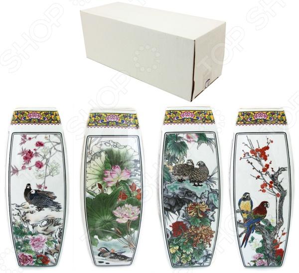 Ваза Elan Gallery «Птицы в цветах» 501920 вазы elan gallery ваза павлин в райском саду
