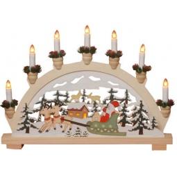 фото Декорация с подсветкой Star Trading «Санта в санях»