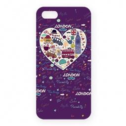 фото Чехол для iPhone 5 Mitya Veselkov London «Сердце». Цвет: фиолетовый