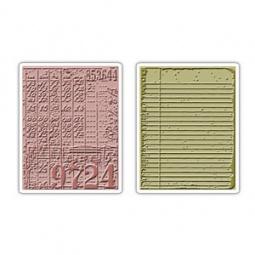 фото Форма для эмбоссирования Sizzix Texture Fades Коллаж и блокнот