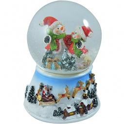 фото Декорация-шар музыкальная Новогодняя сказка «Веселая зима» 972098