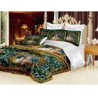 Купить Комплект постельного белья «Мадонна». 1,5-спальное. Цвет: зеленый
