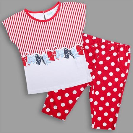Купить Комплект: футболка и бриджи WWW Stilyagi. Цвет: красный