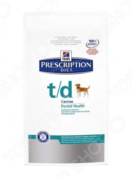 Корм сухой диетический для собак Hill's T/D Prescription Diet Canine Dental Health