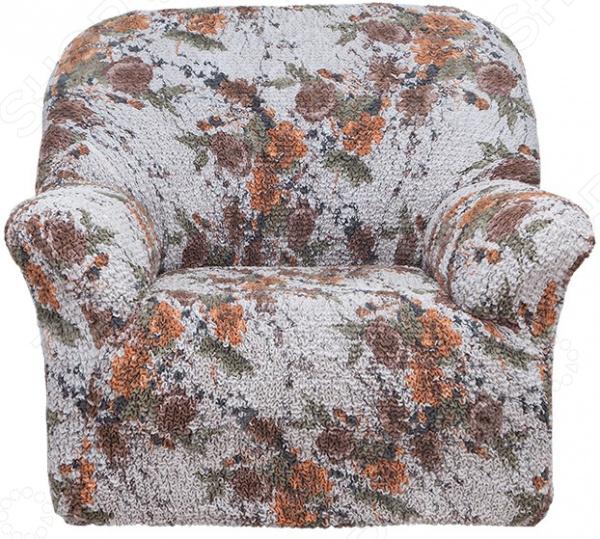 Натяжной чехол на кресло «Виста. Фиори»Чехлы на кресла<br>Кардинальное изменение интерьера Натяжной чехол на кресло Виста. Фиори инновационный чехол, который даст вторую жизнь старой мебели, поможет ей засиять новыми цветами и кардинально преобразит интерьер. Чехол станет приемлемым выбором для тех, кто хочет грамотно расходовать средства, при этом не потерять в качестве. Чехол превосходно натягивается и садится на мебель за счет эластичных нитей, а также легкой и воздушной ткани, которая придает визуальный объем. Поэтому надеть его на кресло не составит особого труда. Преимущественно садится на кресла стандартной формы и габаритов. Преимущества  Сделан из мягкой ткани, приятной на ощупь.  Прострочен эластичными нитями по горизонтали.  Обладает повышенной износостойкости.  Ткань не деформируется и не выцветает после стирки.  Материал не просвечивает.  Высокая степень растяжимости и усадки.  Его можно не гладить.  Защита мебели Сохранение чистоты и гигиеничности это немаловажная часть работы, с которой чехол с легкость справляется. Он используется не только трансформации интерьера, но и для защиты от пыли, пятен, а хозяев от необходимости регулярной чистки. А ведь оригинальную ткань от мебели не так то просто выстирать. Поэтому чехол будет не только красивым дополнением, но и необходимой мерой предосторожности. Ведь случаи бывают разные. Отстирать чехол можно в стиральной машинке при температуре 40 С без отжима. Пятна выводятся без проблем, без дорогостоящей химчистки. Также важно отметить, что такую ткань не обязательно гладить. Легко надевается на кресло и держит форму.  Одежда для вашей мебели Способов обновить старую мебель не так много. Чаще всего приходится ее выбрасывать, отвозить на дачу или мириться с потертостями и поблекшими цветами. Особенно обидно избавляться от мебели, когда она сделана добротно, но обивка подвела. Эту проблему решают съемные чехлы для мебели, быстро набирающие популярность в России. Незаменимы чехлы для мебели в домах с маленькими деть