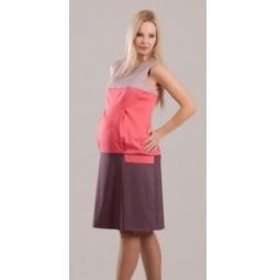 Купить Платье для беременных Nuova Vita 2122.01. Цвет: пыльно-розовый, коралловый, мокко