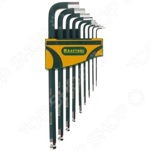 Набор ключей имбусовых длинных Kraftool Industrie 27445-H9 набор шестигранных ключей kraftool 27444 h13