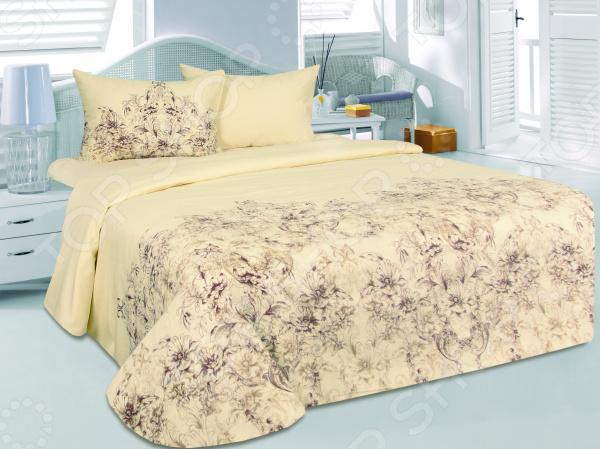 Комплект постельного белья Tete-a-Tete «Делия». СемейныйСемейные<br>Комплект постельного белья Tete-a-Tete Делия для создания уюта и комфорта в спальной комнате. Человек треть своей жизни проводит в постели, и от ощущений, которые вы испытываете при прикосновении к простыням или наволочкам, многое зависит. Чтобы сон всегда был комфортным, а пробуждение приятным, мы предлагаем вам этот комплект постельного белья. Приятный цвет и высокое качество комплекта гарантирует, что атмосфера вашей спальни наполнится теплотой и уютом, а вы испытаете множество сладких мгновений спокойного сна. Оцените преимущества постельного белья:  Мягкая, гладкая и шелковистая поверхность ткани.  Двойное нитяное плетение.  Легко стирать и гладить, не беспокоясь о потере формы и цвета.  Белье из текстиля высокого качества, сделанное по специальной технологии сложного переплетения нескольких видов нитей. Способно хорошо пропускать воздух и впитывать влагу. Также имеет отличные характеристики усадки и практически не мнется. Дизайн белья великолепно подойдет для спальни в классическом стиле, добавит в интерьер аристократическую легкость и элегантность. Перед первым применением комплект постельного белья рекомендуется постирать. Перед этим выверните наизнанку наволочки и пододеяльник. Для сохранения цвета не используйте порошки, которые содержат отбеливатель. Уход: стирать изделия, вывернув их наизнанку особенно это касается изделий с фурнитурой , при температуре до 30 , c использованием современных высокотехнологичных порошков, щадящими отбеливателями без хлора, мягкими кондиционерами, смягчителями для воды, если она у Вас жесткая, щадящим режимом отжима и сушки, без химчистки.<br>