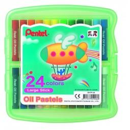 фото Пастель масляная в боксе Pentel Oil Pastels GHTP24