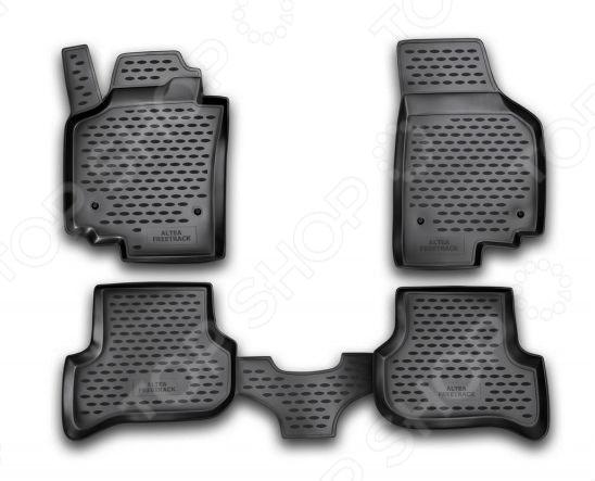 Комплект ковриков в салон автомобиля Novline-Autofamily SEAT Altea / Freetrack 2007-2009Коврики в салон<br>Комплект ковриков в салон автомобиля Novline Autofamily SEAT Altea Freetrack 2007-2009 отличное решение для вашего автомобиля! Этот комплект не только улучшит внешний вид автомобильного салона, но и надежно защитит текстильное покрытие пола от пыли, грязи, сырости и всевозможных пятен. Гибкие, эластичные коврики выполнены из прочного и долговечного полиуретана, который отличается своими прекрасными эксплуатационными характеристиками. Этот материал не деформируется под воздействием высоких или низких температур, не рвется, не выгорает и не подвержен воздействию коррозии, УФ-лучей, бензина и прочих стойких реагентов. Благодаря тому, что форма ковриков разрабатывается с учетом всех особенностей кузова и пола автомобиля отдельной марки и модели, они идеально ложатся в салоне. Их не придется самостоятельно подрезать и подгибать. Другой особенностью комплекта является наличие фиксаторов, которые не позволяют коврикам двигаться во время езды. Защита от западания педали газа гарантирует безопасную и комфортную езду. Поверхность ковриков имеет антискользящий рельеф, который позволяет водить машину в обуви, где отсутствует протектор, например, в туфлях. Гигиенические сертификаты и строгий контроль качества используемых материалов гарантируют, что такие изделия будут совершенно безопасны для вашего здоровья. У них отсутствует неприятный запах, присущий дешевым и некачественным автомобильным коврикам. Преимуществом этого комплекта также можно считать простоту в уходе. Чтобы очистить коврики от налипшей грязи, пыли можно использовать привычные чистящие средства.<br>