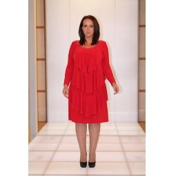 Платье Klimini Шампань. Цвет: красный