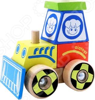 Конструктор для малышей Alatoys «Каталка-трактор» КТР02Конструкторы для малышей<br>Конструктор Alatoys Каталка-трактор КТР02 предназначен для таких маленьких, но уже таких любознательных малышей. Набор включает в себя несколько элементов. Собрав все части воедино, у ребенка получится трактор, управляет которым веселая свинка. Детали конструктора изготовлены из березы с использованием нетоксичных красок и имеют закругленные края, чтобы избежать вероятность травмирования. Представленная модель способствует развитию зрительной координации, воображения, пространственного мышления, умения использовать форму предмета, а также мелкой моторики рук вашего ангелочка. Кроме того, тренируется наблюдательность, образное восприятие и логическое мышление.<br>