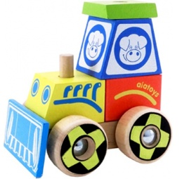Купить Конструктор для малышей Alatoys «Каталка-трактор» КТР02